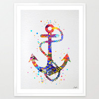 Anchor Watercolor illustration Art Print,Wall Art Poster Giclee Nursery Art Decor Print,Wall Hanging,Kids Art,Wedding,Birthday Gift,No 61