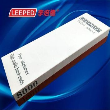 LEEPED 3000/8000 grit High Quality Double Sides Knife Sharpener Whetstone Sharpening Stones