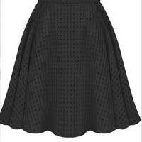 Cutout Pleated Organza Dress