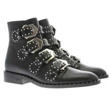 Givenchy Studded Leather Ankle Boots - Luxury Addicted