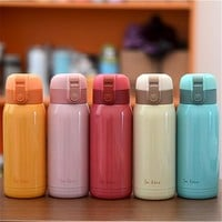 2016 New Cute Mini thermos Stainless Steel Vacuum Cup light and portable kids water bottle Coffee Tea Mugs Hot Sale