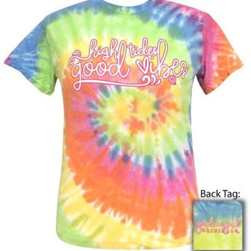 "Girlie Girl ""Good Vibes"" Tie Dye Tee"