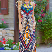 Grab Your Passport Maxi Dress