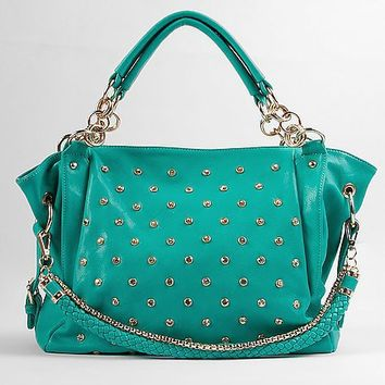 Rhinestone Faux Leather Purse - Women's Bags | Buckle