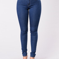 Do You Feel Me Jeans - Medium Blue