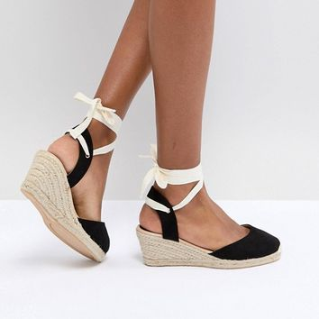 London Rebel Espadrille Wedge Shoe at asos.com