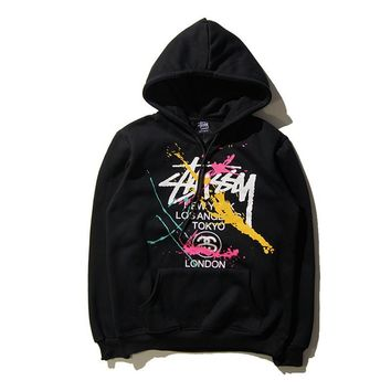 Stussy Fashion Drawstring Long Sleeve Top Sweater Pullover Hoodie