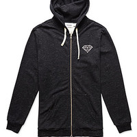 Diamond Supply Co Diamond Front Double Zip Fleece Hoodie at PacSun.com