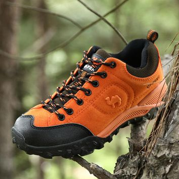 Outdoor Hiking Shoes Men Boots 2017 Spring Leather Shoes Climbing Trekking Waterproof  Men Sports Shoes Breathable Anti-skid