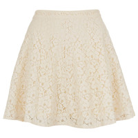 Cream Lace Skater Skirt - New In This Week - New In - Topshop