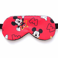 Sleep Eye Mask Mickey Mouse Nap Blindfold Boy Kid Shade Cover Travel Disney Gift