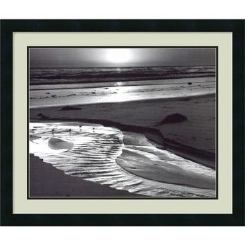 Amanti Art DSW01070 Birds on a Beach, Evening, 1966 by Ansel Adams: 26 x 22 Print Reproduction