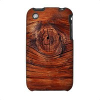 Wood Node Texture iPhone 3G 3GS Case from Zazzle.com