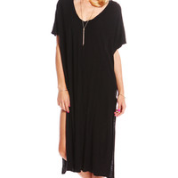 OVERSIZE T-SHIRT TUNIC WITH SLIT SIDES