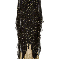 M'O Exclusive Gold Dot Silk Caftan | Moda Operandi
