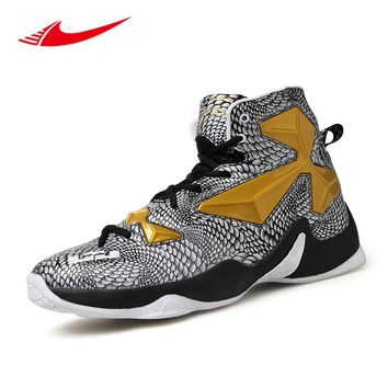 Pop Breathable Men Basketball Shoes High Ankle Sport Sneakers Lebron Training Boots Basket Homme 2017 Zapatillas De Baloncesto