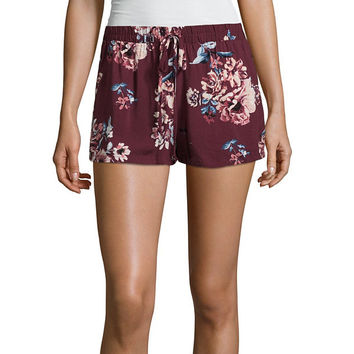 Bebop Floral Woven Soft Shorts-Juniors - JCPenney