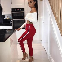 Casual Pants Autumn Hot Sale Women's Fashion Hip Up Sports Cropped Pants [109540933661]