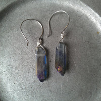 Titanium Quartz Crystal Points Earrings