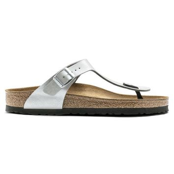 Birkenstock Gizeh Birko Flor Graceful Silver 1009604 Sandals - Ready Stock