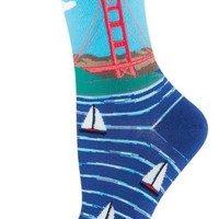 Golden Gate Bridge - Novelty Crew - Women's Socks