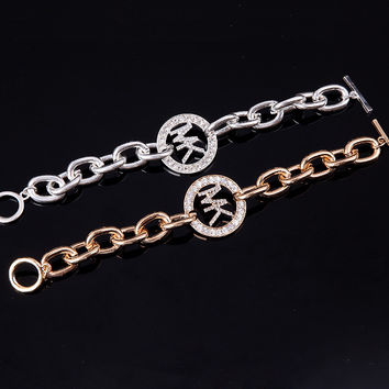 Stylish Strong Character Chain Alloy Diamonds Accessory [8573752781]