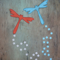 Applique girl iron on, Patch applique  dragonfly, Dragonfly clothing, Iron on applique patch Dragonfly Summer applique