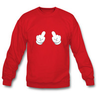 Dope Mickey Middle Finger Sweatshirt