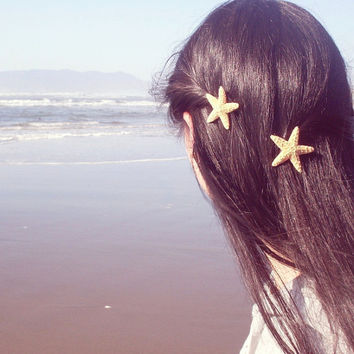 Mermaid's Starfish Hair Clips by dreamsbythesea