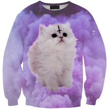 DOUBCHOW Womens Long Sleeves Crewneck Skeleton Cats Printed Sweatshirt 2017 Spring Fall Cute Animal Unicorn Deer Alpaca Hoodies