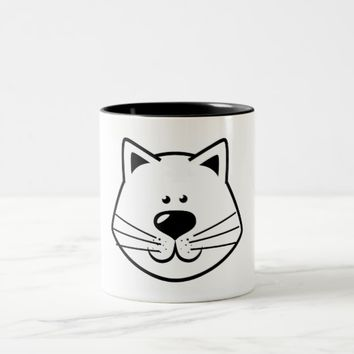 Cat Face Two-Tone Coffee Mug