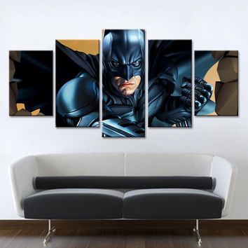Batman Dark Knight gift Christmas 5 Piece Canvas Art Batman Set Canvas Oil Spray Paintings Abstract Decorative Wall Modular Pictures for Living Room No Framed AT_71_6