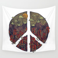 Peaceful Landscape Wall Tapestry by Hector Mansilla