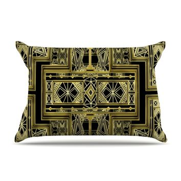 "Nika Martinez ""Golden Art Deco"" Pillow Case"