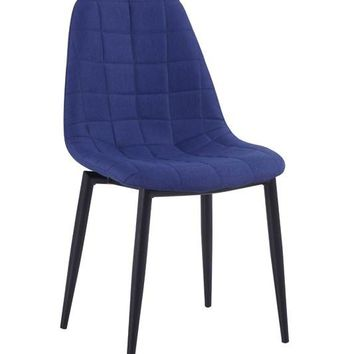 Zella Modern Blue Dining Chair (set of 2)