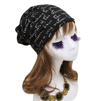 Women Cotton blend Letter Print Hip-Hop Hats For Female Beanie Hat Cap   Skullies Beanies Gorra BL
