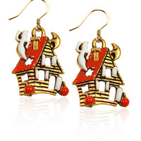 Designer Haunted House Charm Earrings