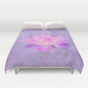 Duvet Cover - 3 different sizes to Choose From, Without Inserts, Bedroom, Home decor, 'Emerging Lotus', Designer, Digital, Art