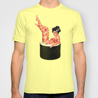 Sushi Girl T-shirt by Wendy Ding: Illustration