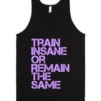 Train Insane Workout Tank-Unisex Black Tank