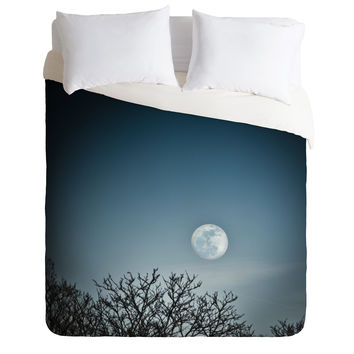 Bird Wanna Whistle Moon Duvet Cover