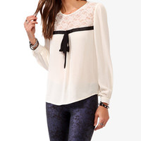 Lace Panel Blouse