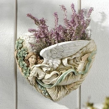 Wall Planter - Angel And Shamrock Design