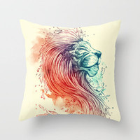 Sea Lion Throw Pillow by Steven Toang | Society6