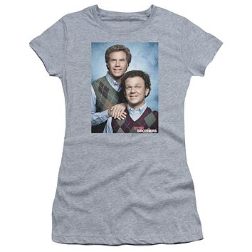 Step Brothers Juniors Shirt Portrait Athletic Heather Tee