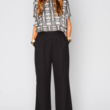 Show Me Your mumu Eli's Trousers ~ Black Crisp