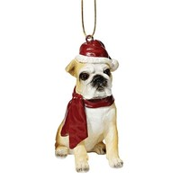 SheilaShrubs.com: Bulldog Holiday Dog Ornament Sculpture JH576304 by Design Toscano: Christmas Tree Ornaments