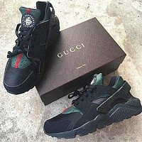 Nike Air Huarache x GUCCI Jointly classic wear-resistant breathable running shoes