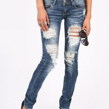 Torn Up Skinnys | Ripped Jeans at Pink Ice