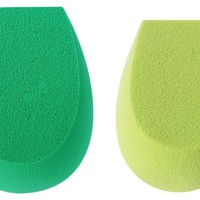 Ecotools Cruelty Free Eco Foam Sponge Duo Made with Sustainable and Recycled Materials; Eco Foam Technology in Two Sizes and Densities